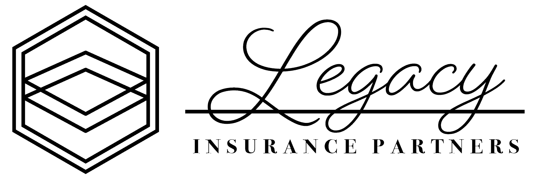 one color black version of Legacy Insurance Partners logo